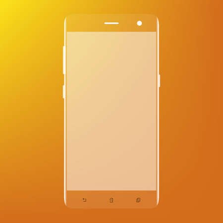 touch screen phone: Realistic mobile phone smart phone with blank screen isolated on white background.
