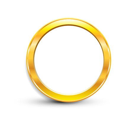 esp: gold ring on white background, isolated object