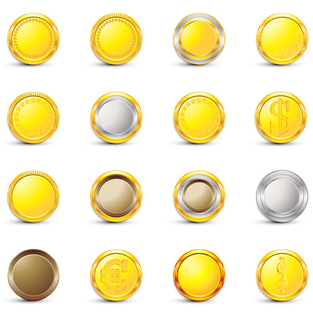 On white background isolated object abstract coin Stock Photo