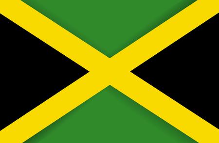 Jamaica flag icon, national flag illustration