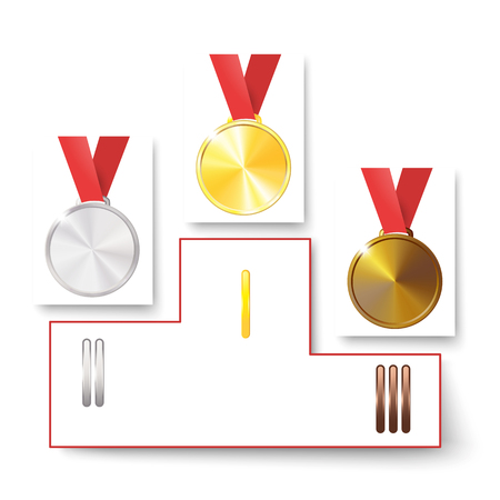 Medal isolated object on background vector sport