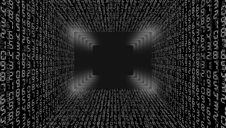 Abstract streaming binary code background. Vector illustration.