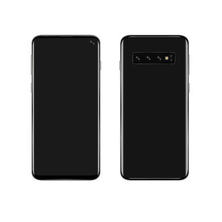 On a white background phone black smartphone Illustration