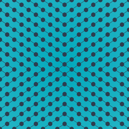 intersect: Halftone of gray circles which intersect lines on turquoise background
