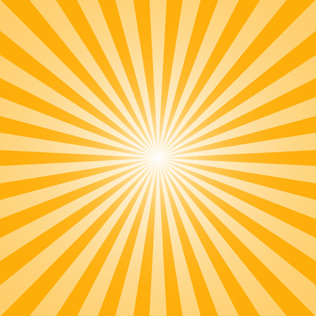 The sun and the suns rays on yellow background Stock Illustratie