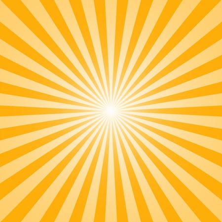 De zon en de zonnestralen op gele achtergrond