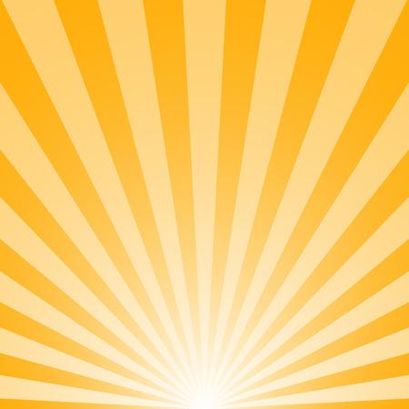 De zonsopgang met zonnestralen op gele achtergrond Stockfoto - 33488084