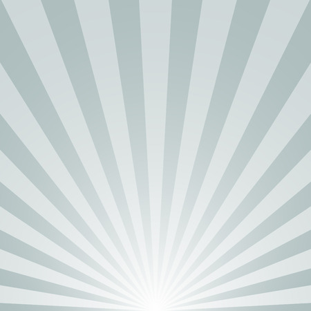 radial background: The sunrise with sunbeams on gray background Illustration