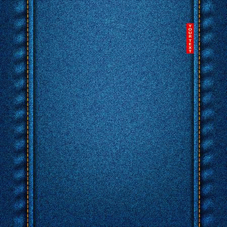 Jeans tekstury niebieski tkaniny denim tle Ilustracje wektorowe