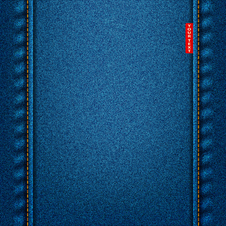 Jeans texture blue fabric denim background