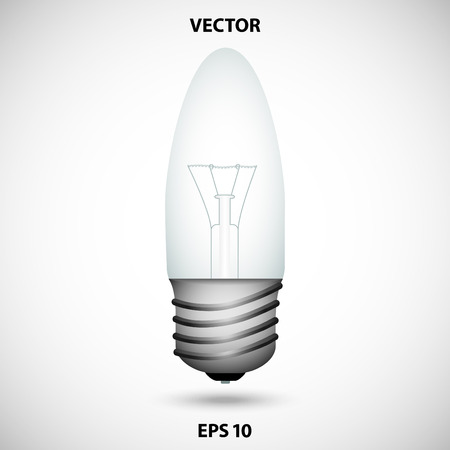 gray bulb: Realistic bulb on a gray background