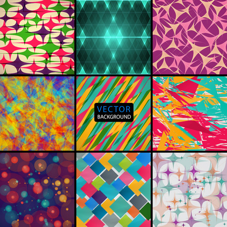 colored backgrounds: set of different colored backgrounds. abstract vector illustration