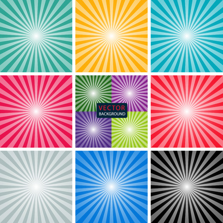 suns: set background of the sun and the suns rays. vector illustration