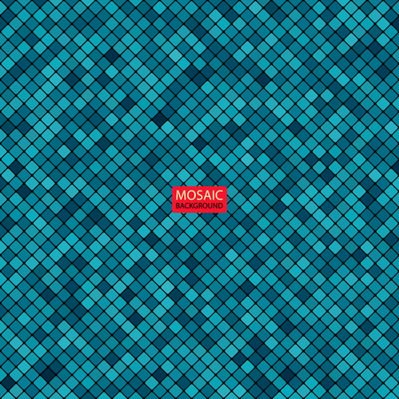 grid pattern: background abstract mosaic of the grid pixel pattern and squares blue color. vector illustration eps10 Illustration