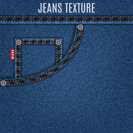 jeans blue texture material with pocket denim background.