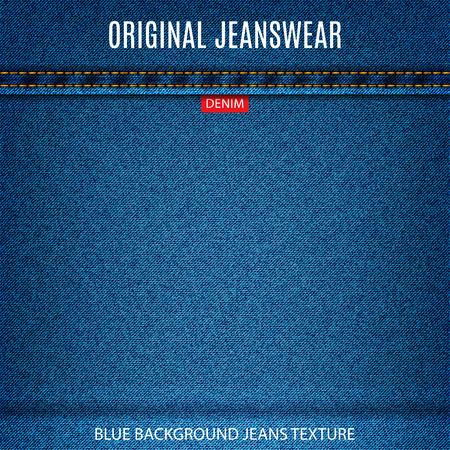 jeans blue texture material denim background.  Illustration