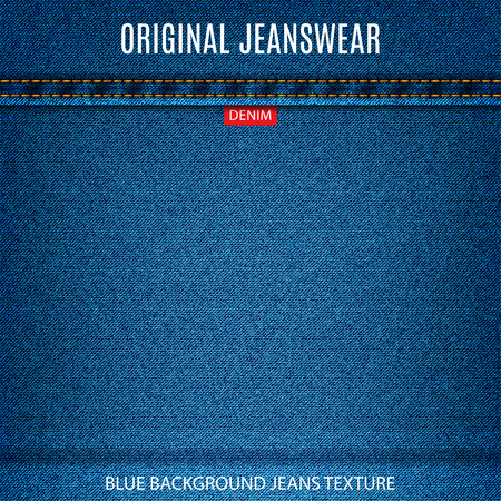 jeans blue texture material denim background.  Stock Illustratie