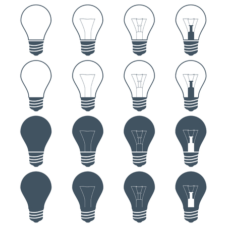 incandescent: incandescent lamps (bulbs) on the gray background
