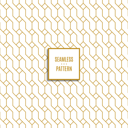 seamless pattern of gold color on white background. stock vector illustration Vettoriali