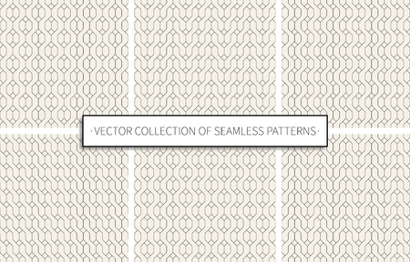 seamless patterns set of black color on grey background. stock vector illustration eps10 Stock Illustratie