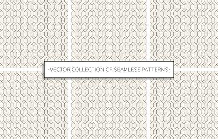 seamless patterns set of black color on grey background. stock vector illustration eps10 Иллюстрация