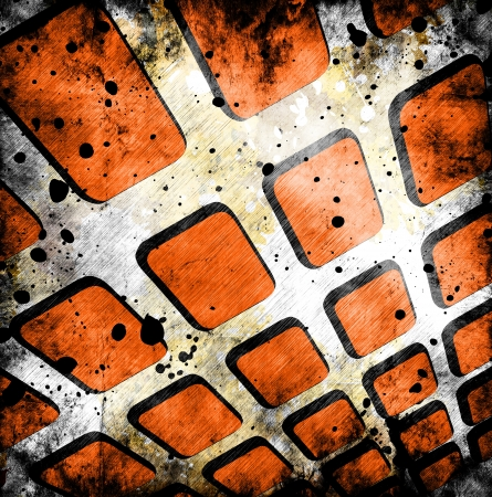 abstract grunge squares background photo