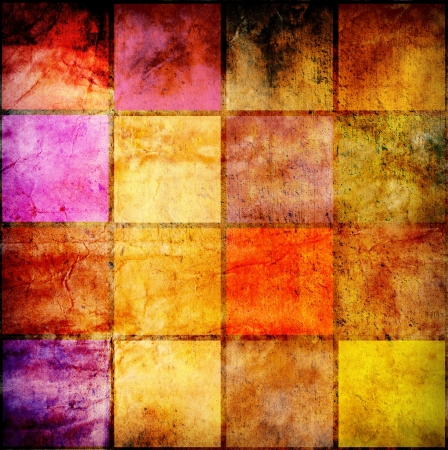 colorful grunge squares background Stock Photo - 14660814