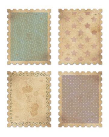 4 빈티지 우표