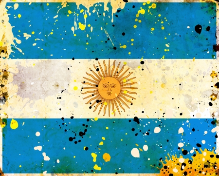 Grunge Argentina flag with stains - flag series photo