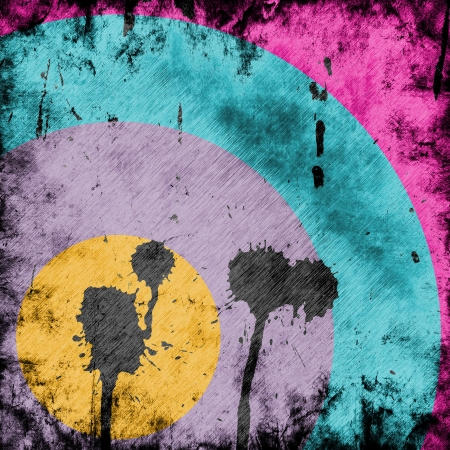 paintball: grunge background with abstract paint stains Stock Photo