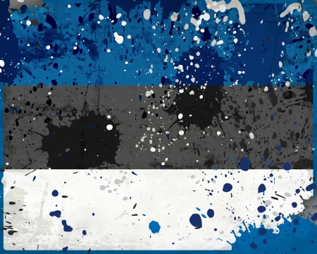 Grunge Estonia flag with stains - flag series photo
