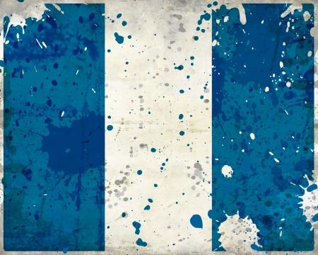 bandera de guatemala: Grunge bandera de Guatemala con manchas - Serie bandera