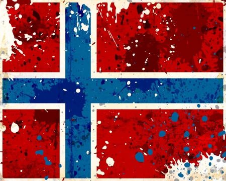 Grunge Norway flag with stains - flag series photo