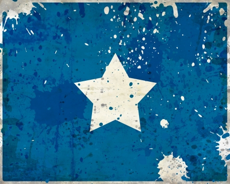 Grunge Somalia flag with stains - flag series photo