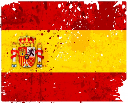 Grunge Spain flag with stains - flag series Stock Photo