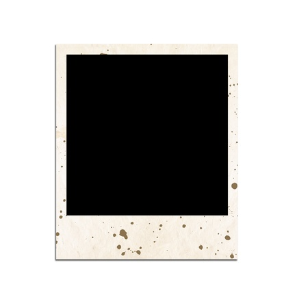 reversal: Old photo slide on white background