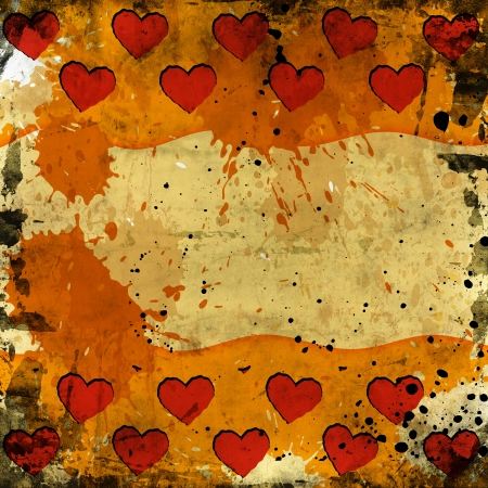 red hearts on grunge background photo