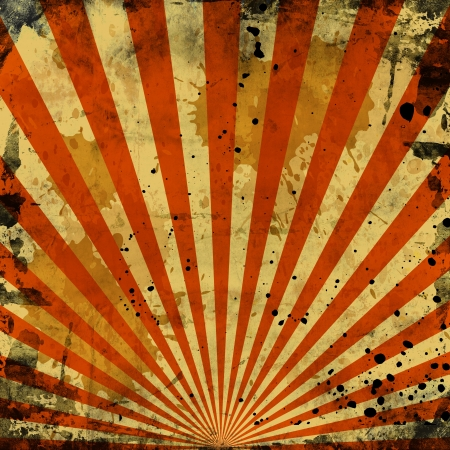 sunbeams orange grunge background with white spots photo