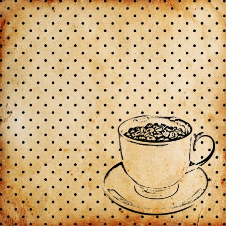 vintage coffee background Stock Photo - 14660367