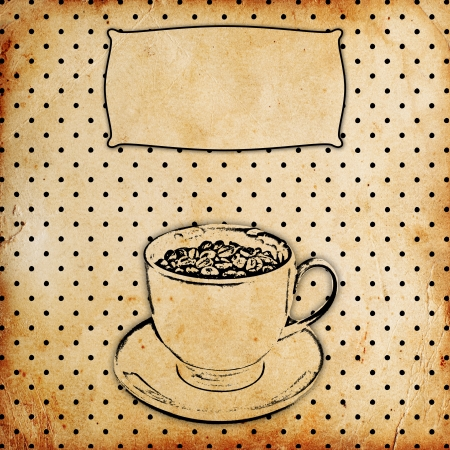 vintage coffee background Stock Photo - 14660353