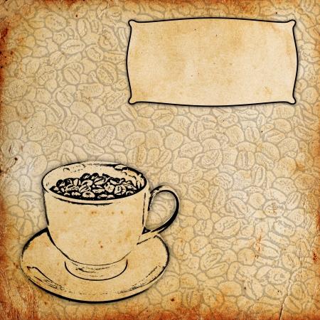 stimulated: vintage coffee background Stock Photo