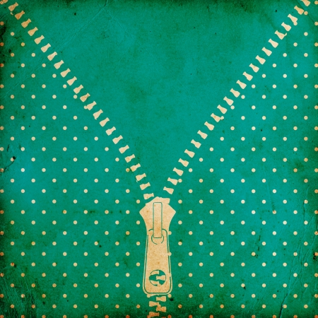 vintage dotted background with zipper photo