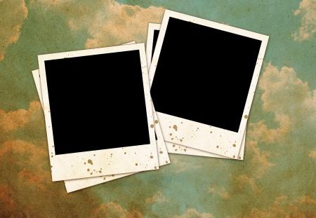 Vintage photo frames on sky background Stock Photo - 14660846