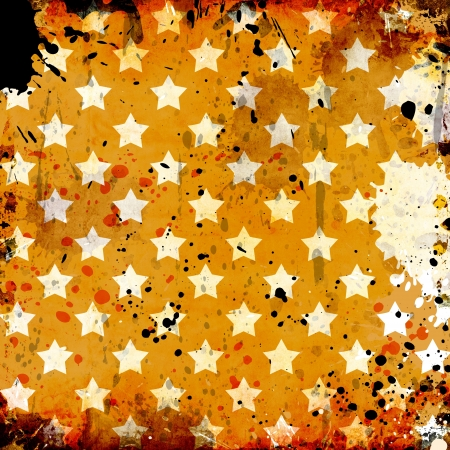 grunge background with stars and stains photo