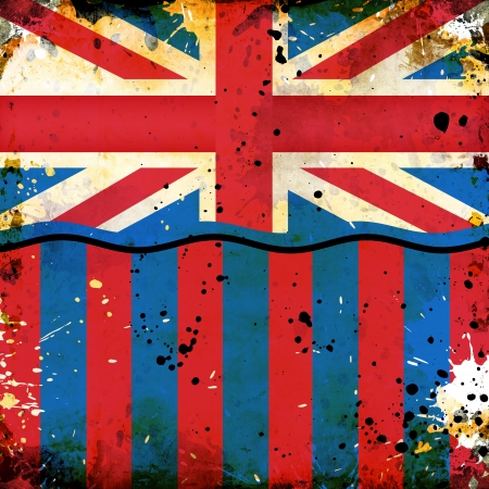 grunge British flag with abstract stains photo