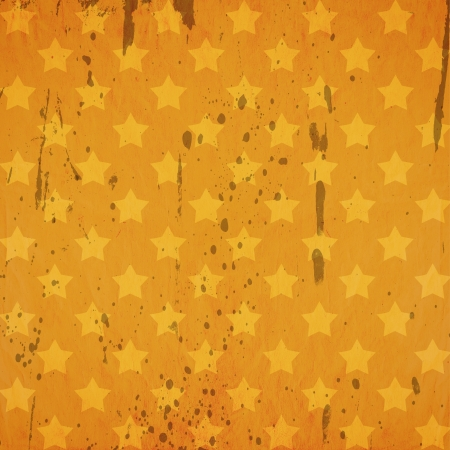 grunge retro background with stars and stains photo