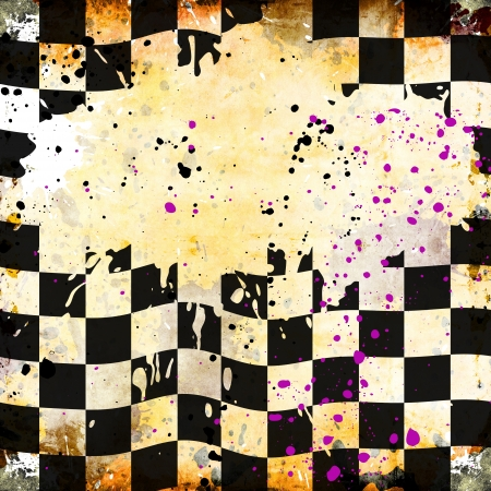 Grungy chessboard background with stains photo