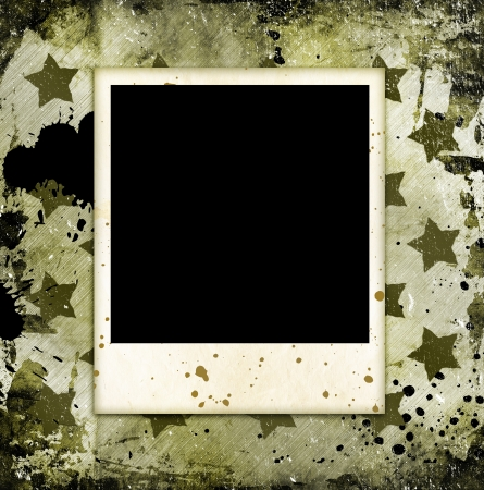 Photo frame on military grunge background Stock Photo - 14660443
