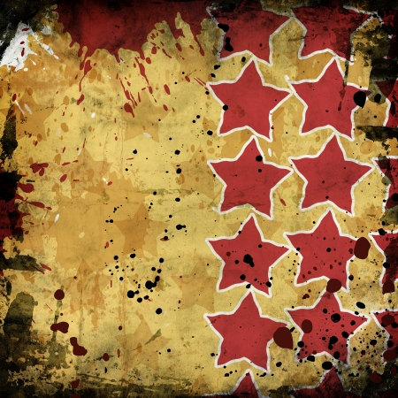 red stars on grunge background photo