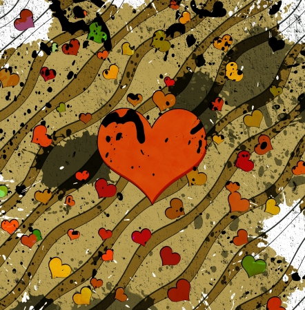 waivers: abstract grunge background with hearts